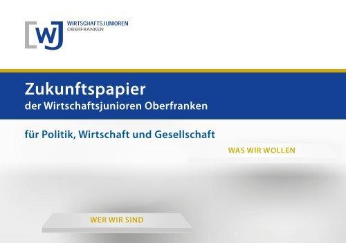 Zukunftspapier der WJ Oberfranken 2015