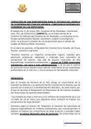 PROPUESTA SUBCOMISIÓN PARA EL ESTUDIO DEL MODELO DE LA RESERVA MILITAR VOLUNTARIA