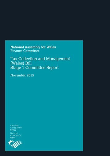 Tax Collection and Management (Wales) Bill Stage 1 Committee Report