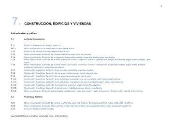 7. construcción, edificios y viviendas - Comunidad Autónoma de la ...