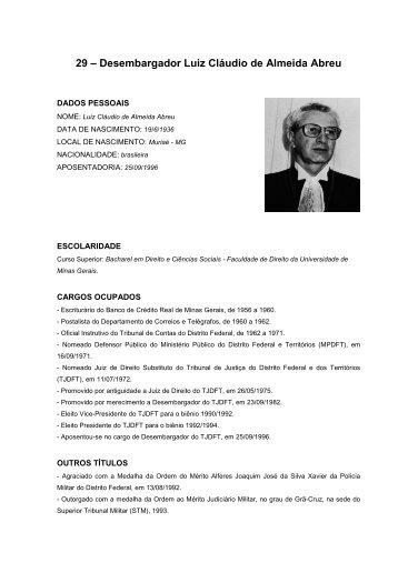 29 – Desembargador Luiz Cláudio de Almeida Abreu