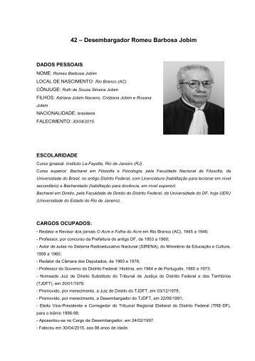 42 – Desembargador Romeu Barbosa Jobim