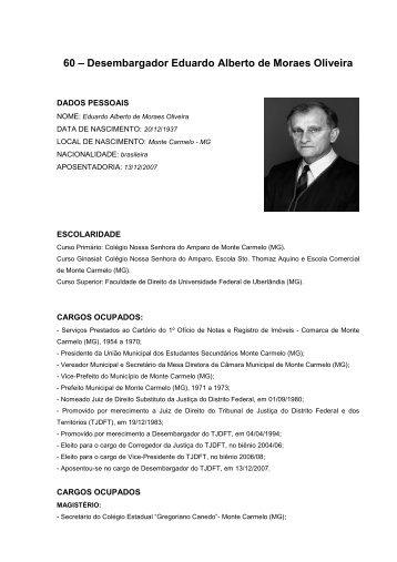 60 – Desembargador Eduardo Alberto de Moraes Oliveira
