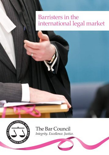 Barristers in the international legal market