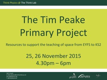 The Tim Peake Primary Project