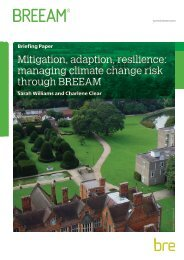 Mitigation adaption resilience managing climate change risk through BREEAM