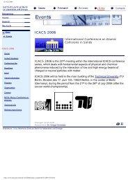 ICACS 2006 - Helmholtz-Zentrum Berlin