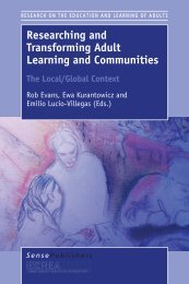 Researching and Transforming Adult Learning and Communities