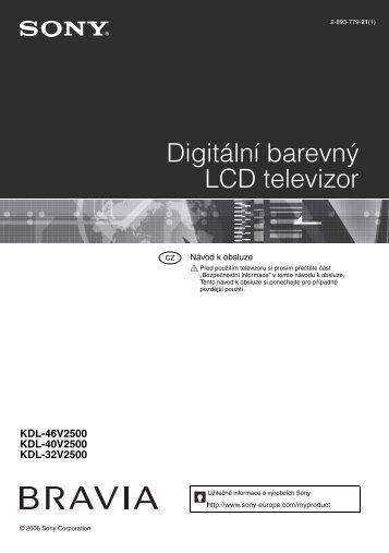Sony KDL-46V2500 - KDL-46V2500 Istruzioni per l'uso Ceco