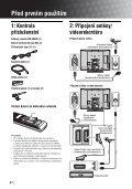 Sony KDL-46V2500 - KDL-46V2500 Istruzioni per l'uso Ceco - Page 4