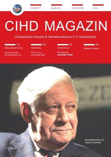CIHD Magazin 17 08/2012