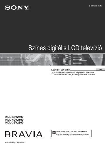 Sony KDL-40V2500 - KDL-40V2500 Istruzioni per l'uso Ungherese