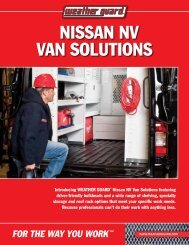 NISSAN NV VAN SOLUTIONS - Weather Guard