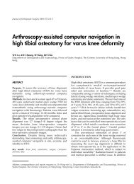 Arthroscopy-assisted computer navigation in high tibial osteotomy ...