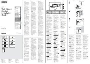 Sony KDL-42W656A - KDL-42W656A Informazioni sulla staffa per montaggio a parete Spagnolo