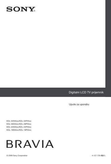 Sony KDL-26S5500 - KDL-26S5500 Istruzioni per l'uso Croato