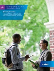 2015–2016 Higher Education Industry Outlook Survey