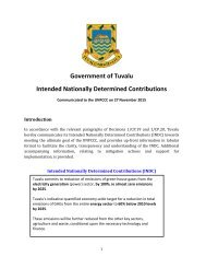 Government of Tuvalu Intended Nationally Determined Contributions