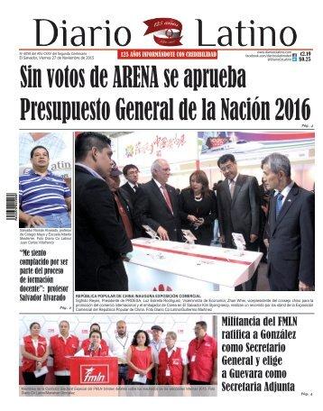 Edición 27 de Noviembre de 2015
