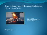 Safety in Deep-water Hydrocarbon Exploitation Discovery to ...