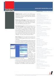 Geschäftskontrolle b1 - bei Hediger Software