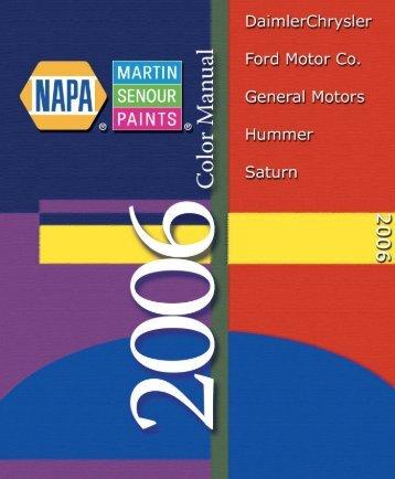 2006 Domestic Color Book