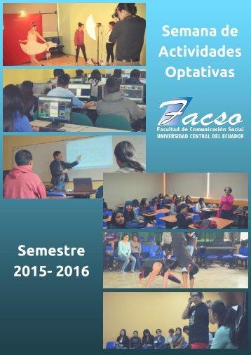 Semana de actividades optativas en la FACSO