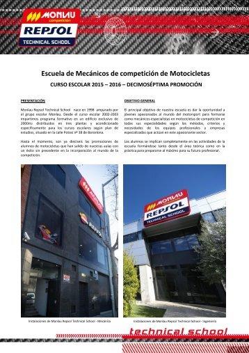 Escuela de Mecánicos de competición de Motocicletas
