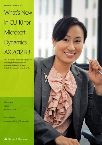 What's New in CU 10 for Microsoft Dynamics AX 2012 R3