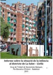 Informe sobre la situació de la infància al districte de La Salut – Llefià