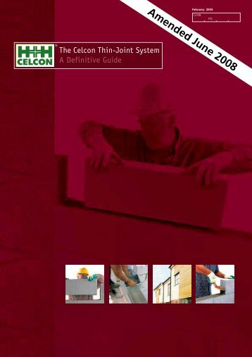 The Celcon Thin-Joint System A Definitive Guide - Masonry First