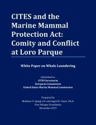 CITES and the Marine Mammal Protection Act Comity and Conflict at Loro Parque