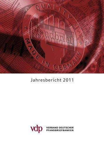 Jahresbericht 2011 - Verband deutscher Pfandbriefbanken