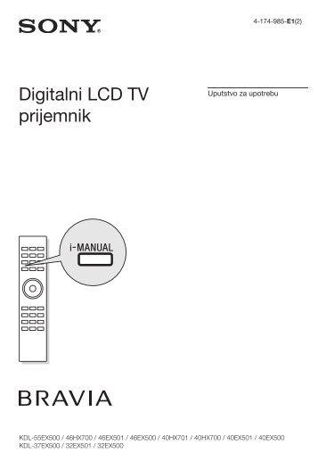 Sony KDL-37EX500 - KDL-37EX500 Istruzioni per l'uso Serbo