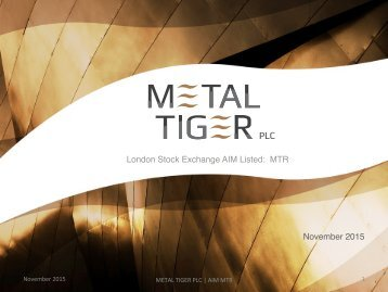 London Stock Exchange AIM Listed MTR! November 2015!