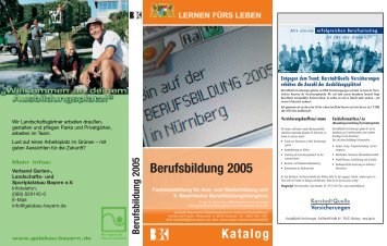Berufsbildung 2005 Katalog - Berufsbildung Bayern