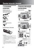Sony KDL-32S2510 - KDL-32S2510 Istruzioni per l'uso Ungherese - Page 4