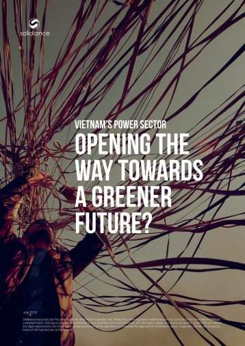OPENING THE WAY TOWARDS A GREENER FUTURE?