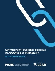 PARTNER WITH BUSINESS SCHOOLS TO ADVANCE SUSTAINABILITY