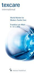 The Texcare Forum: knowledge from professionals for ... - Messelogo