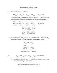CHM152 Equilibrium Worksheet Key 1 Equilibrium Worksheet Key