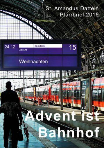 Advent ist Bahnhof