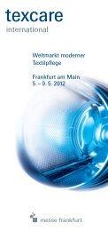 Weltmarkt moderner Textilpflege Frankfurt am Main 5 ... - Messelogo