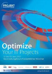 Optimize Your IT Projects 12. bis 13. Juni 2012 - it-daily.net