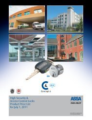 ASSA. 2011 Price List - Mfsales.com