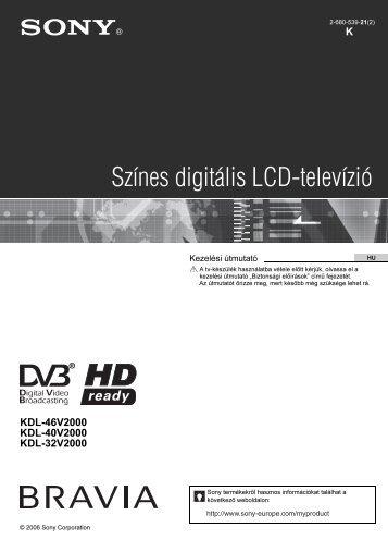 Sony KDL-32V2000 - KDL-32V2000 Istruzioni per l'uso Ungherese