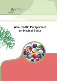 Asia-Pacific perspectives on medical ethics - unesdoc - Unesco