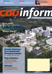 Wirtschaft - CDU Rheinisch-Bergischer Kreis