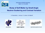 Study of Soft Matter by Small-Angle Neutron Scattering and Contrast ...