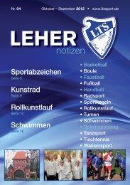 LTS Heft 4/2012 - Leher Turnerschaft von 1898 e.V.